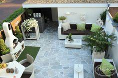 Brasil White - Flagstones, sterke kwaliteit. Ideaal voor een zonnige sfeer in de tuin - Ibiza-stijl.