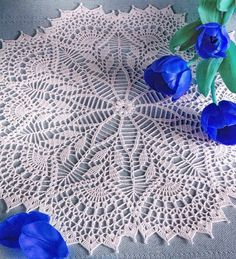 FREE DIAGRAM ~   Crochet Art: Crochet Lace doily - Gorgeous White Lace doily