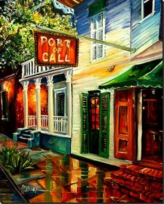 Diane Millsap New Orleans Port of Call Art Print for sale. Transform your space with nice New Orleans Port of Call Art Print at payable price. New Orleans Art, New Orleans Louisiana, Louisiana Art, New Orleans French Quarter, Call Art, Canvas Prints, Art Prints, Canvas Paintings, Art Portfolio