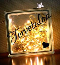 Tervetuloa #sisustustarra #lasitiili #lights #glassblock