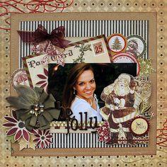 "Searchwords: Be Jolly.""My Creative Scrapbook. Scrapbook Box, Christmas Scrapbook Layouts, Scrapbook Background, Scrapbook Designs, Scrapbook Sketches, Scrapbook Page Layouts, Scrapbooking Ideas, Digital Scrapbooking, Christmas Cards"