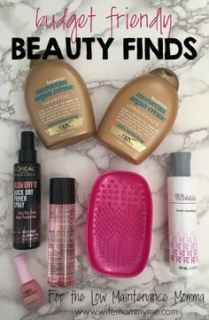 On the blog this morning, I am sharing budget friendly beauty finds for the low maintenance Momma. Even if you're on a budget, you can still find an amazing selection of products if you are willing to shop around or use coupons, which I do. I've tried every single one of these products and all earn a 5 star rating.