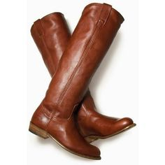 Brown Riding Boots ❤ liked on Polyvore