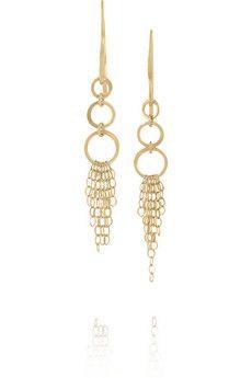 Melissa Joy Manning 14-karat gold drop earrings