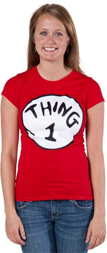 thing 1 tee.... They dr Seuss at universal maybe we can do thing 1,2,3... For our tees that day lol