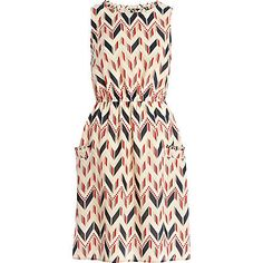 Jubilee - RED ZIG ZAG PRINT WAISTED DRESS from River Island