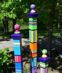 Totem Garten Garten Garten Skulptur skulpturale Totem von LisaFrick