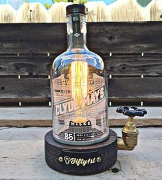 Upcycled Clyde Whiskey Bottle Lamp by Fifty1st on Scoutmob