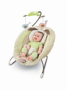 Deluxe Bouncer, My Little Snugabunny A snuggling cushion for your baby's head down to his toes to 'cradle' in. There are eight songs, nature sounds, and calming vibrations to comfort your baby. There are a variety of toys and they each make a different sound and can be manipulated.   http://awsomegadgetsandtoysforgirlsandboys.com/easter-gifts-for-baby/ Deluxe Bouncer, My Little Snugabunny