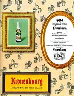 Publicité Kronenbourg - 1964 - Kronenbourg 1664 - bière - Alsace -