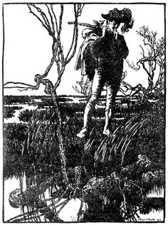 Illustration by Arthur Rackham for 'The Three Languages' from: The fairy tales of the Brothers Grimm, published by Doubleday, Page & Co, New York, Arthur Rackham, Art And Illustration, Fine Art Prints, Framed Prints, Canvas Prints, Vintage Fairies, Art Reproductions, Fine Art Paper, Poster Size Prints