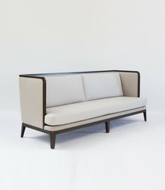 "Pagoda Sofa French Oak Whitewash / Natural / Stained Dimensions: 96"" x 34"" x 39.5""H C.O.M: 21 yards C.O.L Frame 285 sq. feet Cushion 195 sq. feet  Edition of 99"