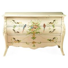 Check out this item at One Kings Lane! Seraphina Bombé Chest, Cream/Multi