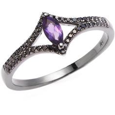 Aron & Hirsch: Amethyst Marquise Ring ($1,943) ❤ liked on Polyvore featuring jewelry, rings, jewels, rhodium, 18 karat gold jewelry, druzy ring, marquise-cut diamond rings, drusy ring and amethyst rings