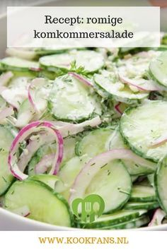 A delicious side dish for the barbecue. A delicious side dish for the barbecue. Salad Recipes Healthy Lunch, Salad Recipes For Dinner, Chicken Salad Recipes, Healthy Salad Recipes, Veggie Recipes, Barbacoa, Creamy Cucumber Salad, Creamy Cucumbers, Salads For A Crowd