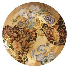 Ivana Angeli.. Painted Porcelain, Hand Painted Ceramics, Porcelain Ceramics, Painted Plates, Ceramic Plates, China Painting, Pottery Painting, Painting Patterns, Paint Designs