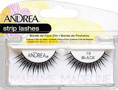 Andrea Strip Lash 19 Black #madamemadeline #andrea #andrealashes #andrea19