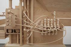 Artist Creates Replicas of Complex Machines Using Wood - Neatorama