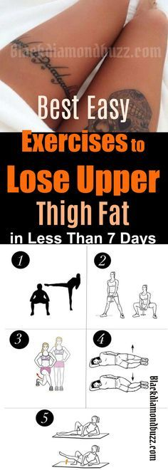 Best Exercises to Lose Upper Thigh Fat in Less Than 7 Days | How to Reduce Upper Thighs Fat in a Week