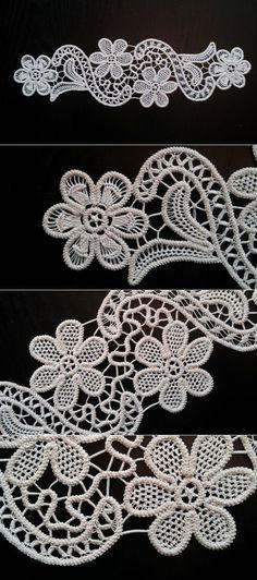 Point Lace Romanian Style Crochet Doily Ivory by ValeriasShop | dzpfybt | Постила