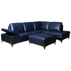 Tanner Indigo Sectional | Weekends Only Furniture and Mattress