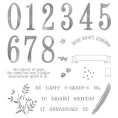 BeautyScraps: Let's Celebrate our Anniversary with Stampin' Up! Number of Years…