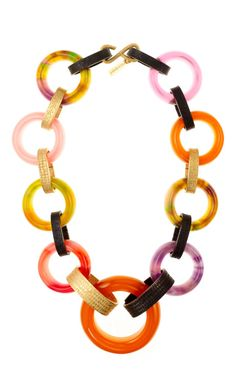 Shop YSL - Chain Plastic and Metal Necklace by Carole Tanenbaum for Preorder on Moda Operandi