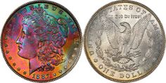 1887 Morgan Dollar PCGS MS66 CAC Ex Sonnier (EST: $4,500.00+) | READ MORE AND BID TONIGHT: http://www.legendmorphyauctions.com/search/details/c/Classic_U.S._Coins/g/Silver_Dollars?id=102272&lotId=2648