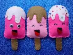 ijsjes van vilt - felt icecream (gratis nederlands patroon)