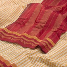 Ghanshyam Sarode Handwoven Gadwal Cotton Sari 1003701 - Sari / All Saris - Parisera