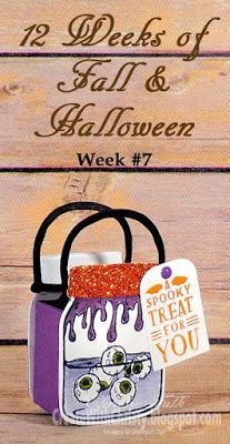 Free, illustrated, step-by-step tutorial included in the post - Stampin' Up! Jar of Haunts Treat Bag - Create With Christy: 12 Weeks of Fall & Halloween - Week #7 - Christy Fulk, SU! Independent Demo