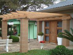 1000 images about jardim on pinterest madeira ems and tela - Pergolas de cemento ...