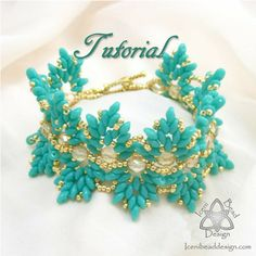 Pdf Tutorial Willow Bracelet with Super Duo by IceniBeadDesign