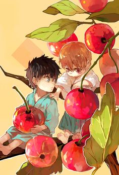 Hijikata and Okita Sougo - cherry - alternate age