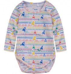 Ubranka dla niemowlaka: http://endo.pl/dla-niemowlaka Endo ubranka dla dzieci  Body w kolorowy deseń z długim rękawem dla niemowlaka N52M025_1