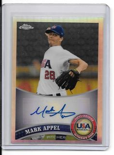 2011 Topps Chrome USA Baseball Autographs Refractors #USABB1 Mark Appel, Astros #HoustonAstros
