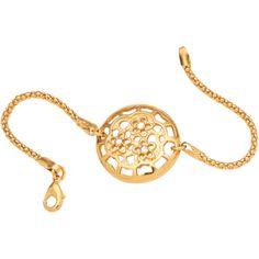 Pulsera con motivos en flor de la marca BECLAY. www.cristianlay.com