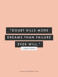On why your dreams REALLY aren't coming true.