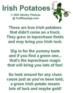 Irish Potatoes Candy for St. Patrick's Day so funny this would crack my kids up ;)
