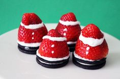 Spiked Strawberry Santas (That's right, the frosting will get you tipsy!)