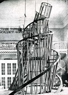 Vladimir Tatlin - Monumento a la III Internacional. Constructivismo - fotografía de  1920