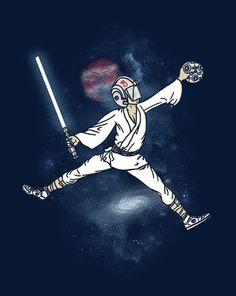 theshirtlistdesigns: The (Air) Force , camisetazo Star Wars de ShirtPunch Star Wars Jokes, Basketball Art, Cute Stars, The Force Is Strong, Cool T Shirts, Comic Art, Air Force, Geek Stuff, Artsy