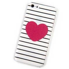 Case for iPhone 5C Cover mobile Phone Cases Coque original Pink Heart Stripes Princess Brand Housing Screen Protector Hoesjes