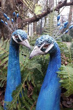 Paper Mache Sculpture, Pottery Sculpture, Bird Sculpture, Stone Sculpture, Pottery Art, Clay Birds, Ceramic Birds, Ceramic Animals, Outdoor Statues