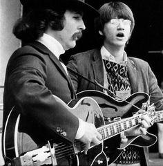 David Crosby and Richie Furay - Monterey Pop Festival - 1967.