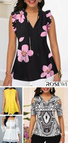 Shop sexy club dresses, jeans, shoes, bodysuits, skirts and more. Dress With Cardigan, Blouse And Skirt, Blouse Patterns, Blouse Designs, Cute Fashion, Fashion Outfits, Womens Fashion, Sewing Blouses, Blouse Online