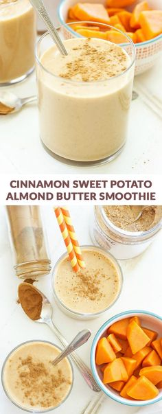 "Sweet Potato Almond Butter Smoothie Cinnamon Sweet Potato Almond Butter SmoothieSweet Nothings To speak ""sweet nothings"" is a form of Flirting. Sweet Nothings or Sweet Nothing may refer to: Low Carb Sweet Potato, Sweet Potato Cinnamon, Sweet Potato Breakfast, Sweet Potato Recipes, Breakfast Smoothies, Fruit Smoothies, Healthy Smoothies, Healthy Drinks, Smoothie Recipes"