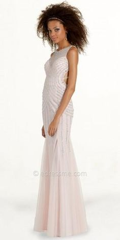 Beaded Illusion Trumpet Prom Dress by Camille La Vie  #dress #dresses #fashion #designer #camillelavie #edressme