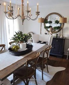 I Love The Height These Lamps From HomeGoods Add To The Sideboard And The  Texture That The Shades Add To This Simple Black And White Dining Room.