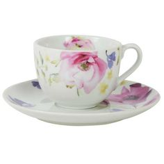 The delicate design of the Floral Watercolor Collection is perfect for afternoon tea.